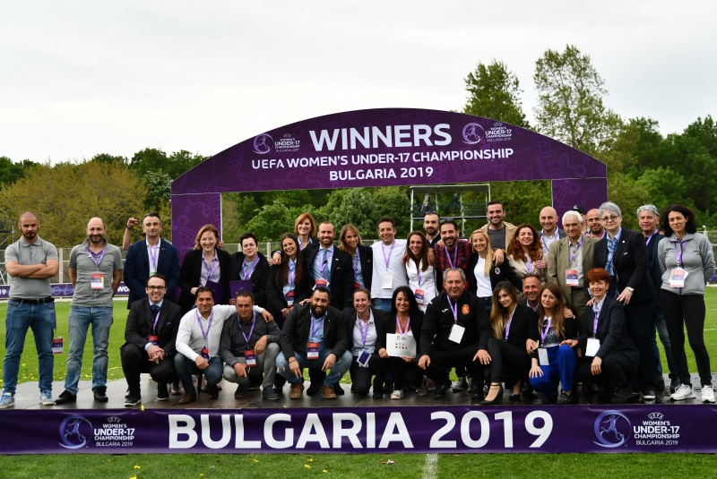 UEFA thanked Bulgaria for the excellent organization of UEFA WU 17 European championship final tournament